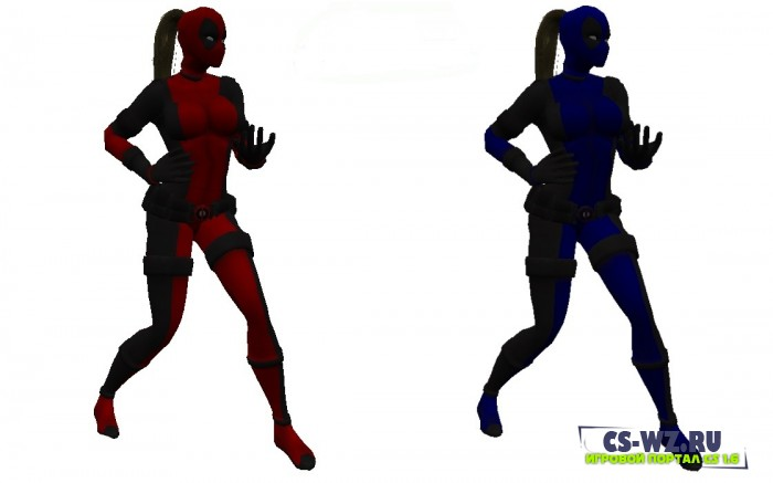 Модели девушек Deadpool для CS 1.6 , Models of girls Deadpool  for CS 1.6